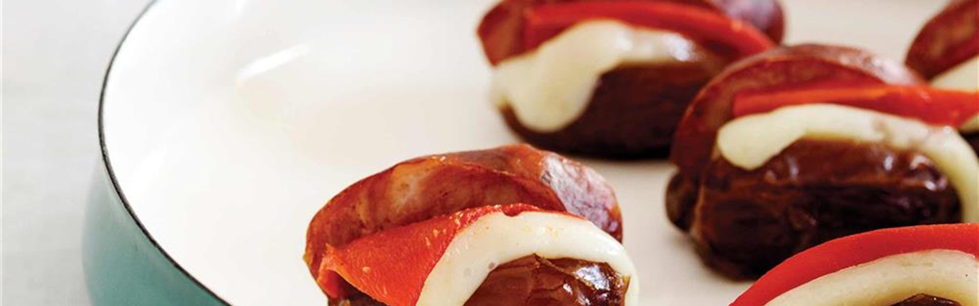 Chorizo Manchego Stuffed Dates
