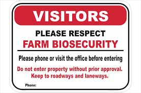 Farm Biosecurity Sign